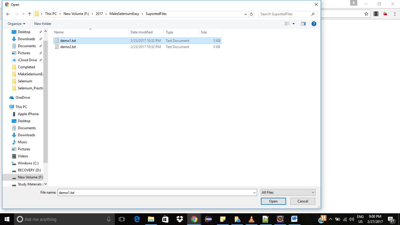 Upload multiple files in Selenium – Make Selenium Easy