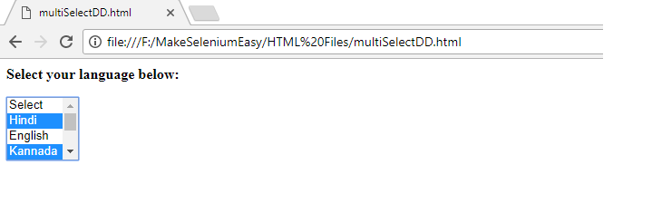 Part 3: Handling Multi Select Drop-down Created Using SELECT Tag