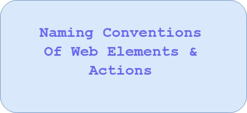 Best Practises in Page Object Model : Naming Conventions of Web Elements & Actions on it
